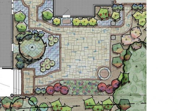 Courtyard Garden Plan