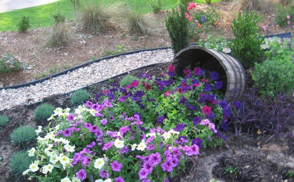 Flower beds, Beds and Trees on