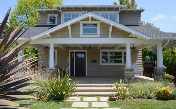 Craftsman, Front, Porch, Swing