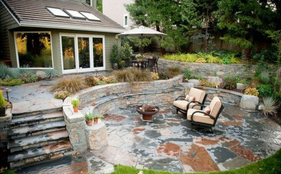 Rustic, Patio, Stone, Outdoor