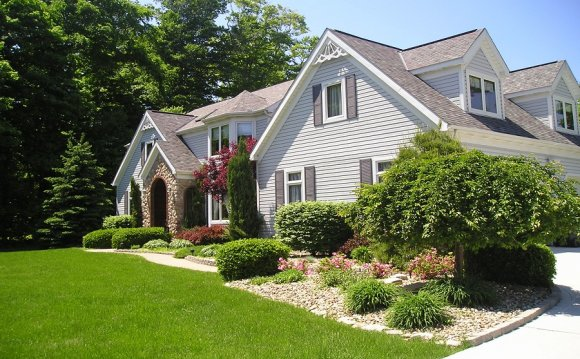 Ranch home landscaping images