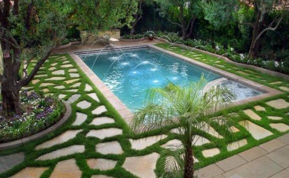 Simple hillside landscaping