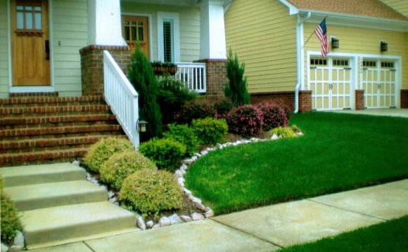 Simple landscaping like adding