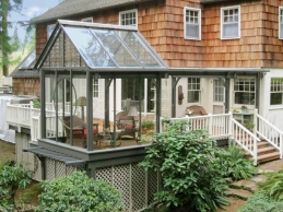 cedar deck with salvaged glass windows, design design inspirational ideas