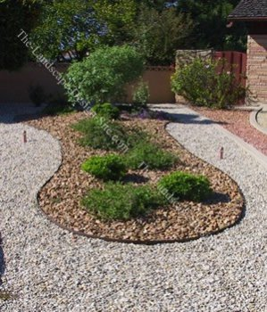 cheap inexpensive landscaping image