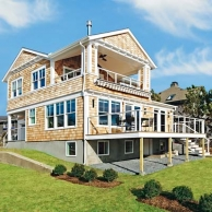exterior of toh tv barrington beach house with big deck,  deck design inspirational ideas