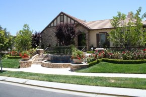 Front Yard Fountain, Front Yard Stairs Swimming Pool The Green Scene Chatsworth, CA