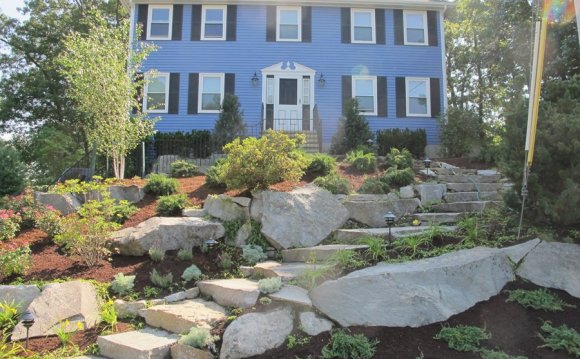 Sloped Landscaping ideas for front yard