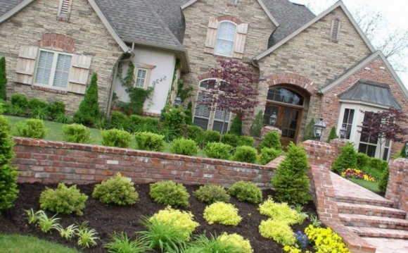 Front Porch Flower Bed Ideas Residential Landscaping