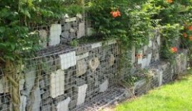 gabion retaining wall garden landscaping ideas