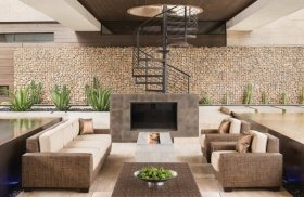 gabion retaining wall ideas patio decorating house exterior