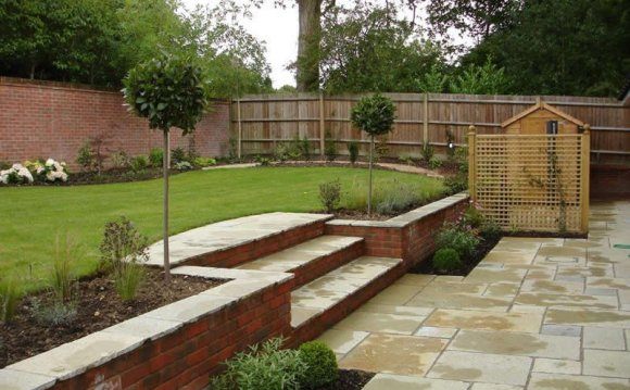 Sloping gardens Landscape Design plans