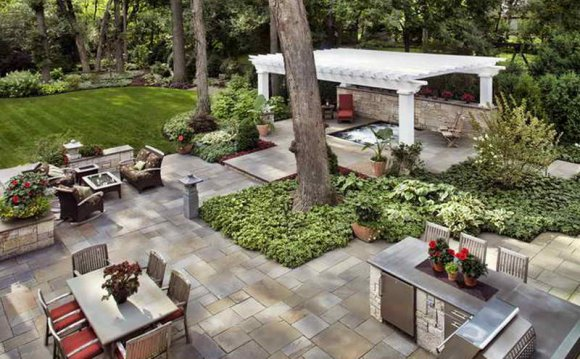 Backyard entertaining Landscape Ideas
