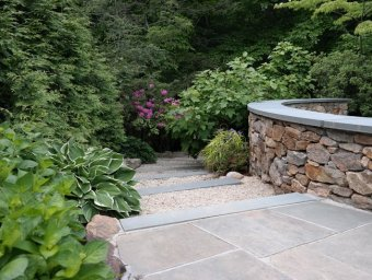 Stone And Gravel Steps Johnsen Landscapes & Pools Mount Kisco, NY