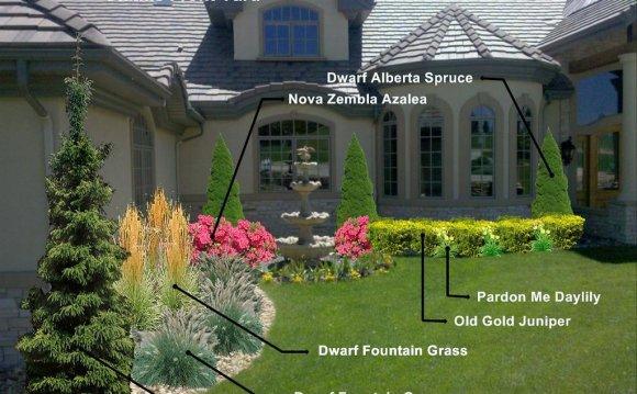 Front Landscape Design Plans Residential Landscaping